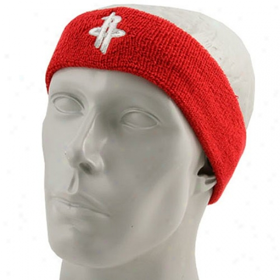 Houston Rocket Gear: Adidas Houston Rocket Red Logo Headband