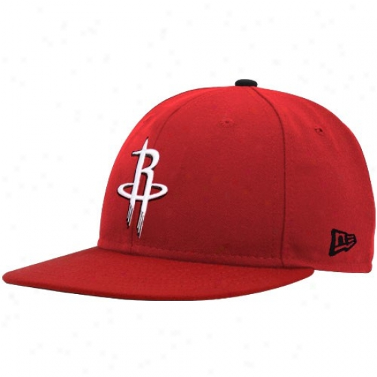 Houston Rocket Hats : New Era Houston Rocket Red Logo 59fifty Fitted Hats