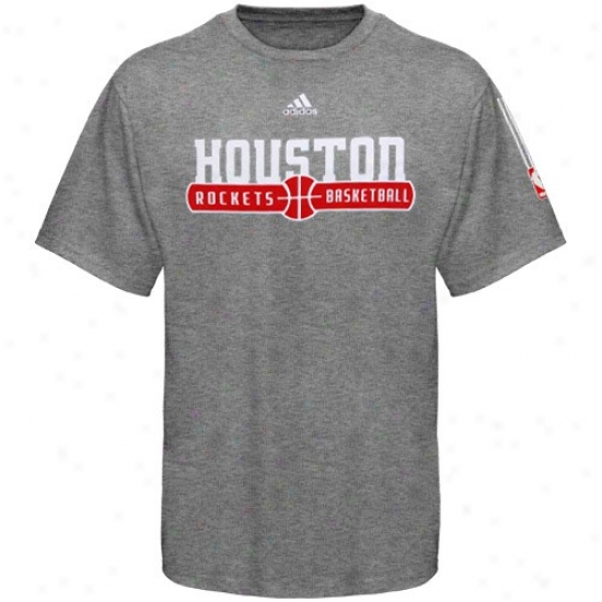 Houston Rocket Shirt : Adidas Houston Rocket Ash Ball Horizon Shirt