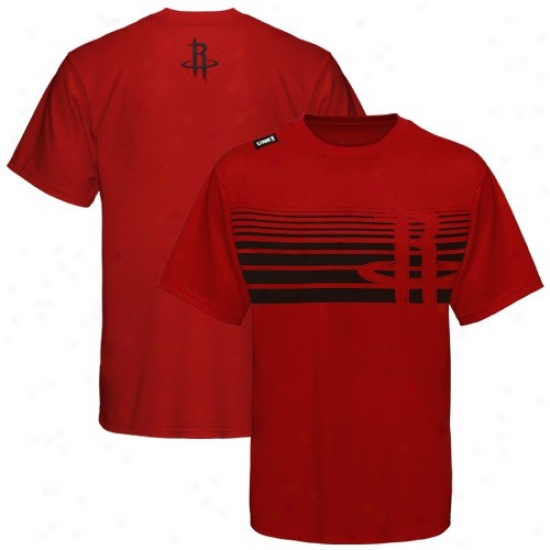 Houston Rocket Tees : Houston Rocket Red Slash Graphic Tees