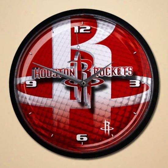 Houston Rockets 12'' Wall Clock