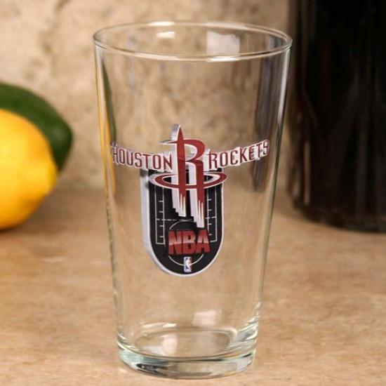Houston Rockets 17 Oz. Enhanced Hi-def Mixing Glass