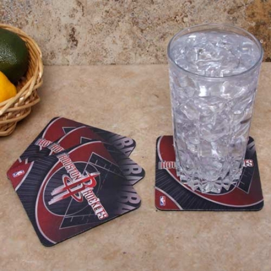 Houston Rockets 4-pack Sublimated Logo Neoprene Coaster Set