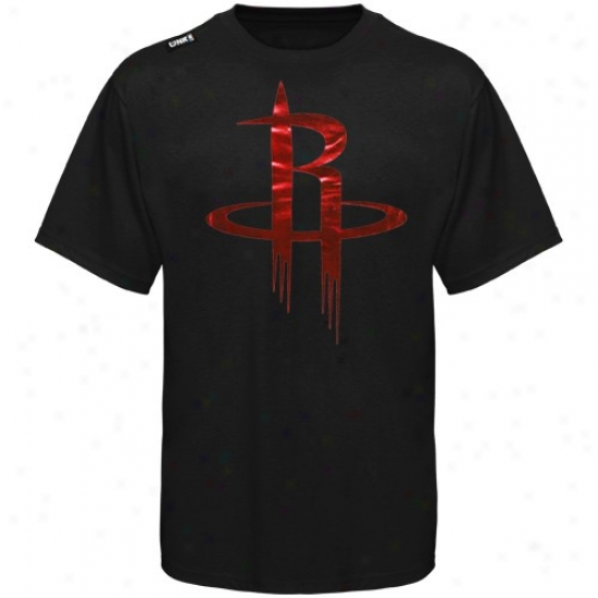 Houston Rockets Attire: Houston Rockets Black Foil Game T-shirt