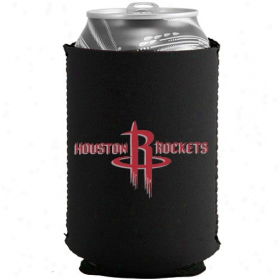 Houston Rockets Black Collapsible Can Coolie