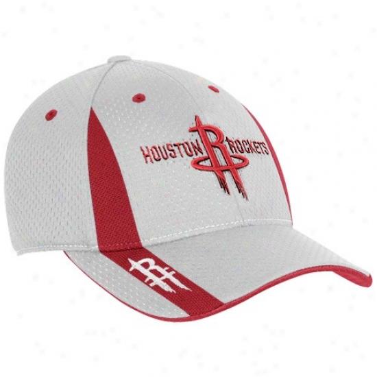 Houston Rockets Cap : Adidas Houston Rockets Gray-haired Swingman Flex Fit Cap