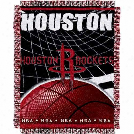 Houston Rockets Jacquard Woven Blanket Throw