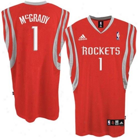 Houston Rokets Jersey : Adidas Houston Rockets #1 Tracy Mcgrady Red Swingman Jerwey