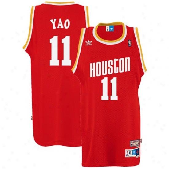 Houston Rockets Jersey : Adidas Huston Rockets #11 Yao Ming Red Swingman Basketball Jersey