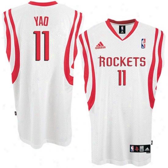 Houston Rockets Jersey : Adidas Houston Rockets #11 Yao Ming White Home Swingman Basketball Jersey