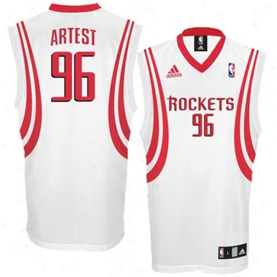 Houston Rockets Jersey : Adidas Houston Rocketss #96 Ron Artest White Replica Basketball Jersey
