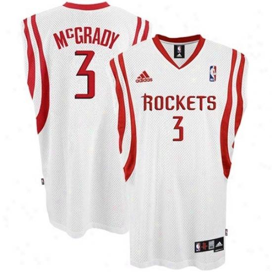 Houston Rockets Jerseys : Adidas Houston Rockets #3 Tracy Mcgrady White Swingman Basketball Jerseys