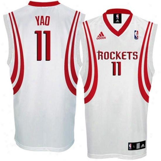 Houston Rockets Jerseys : Adidas Houston Rockets #11 Yao Ming White Replica Basketball Jerseys