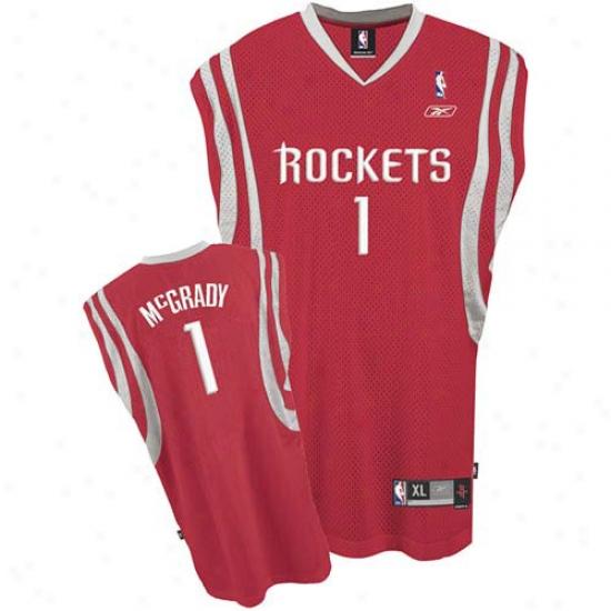 Houston Rockets Jeerseys : Reebok Houston Rockets #1 Tracy Mcgrady Red Swingman Jerseys