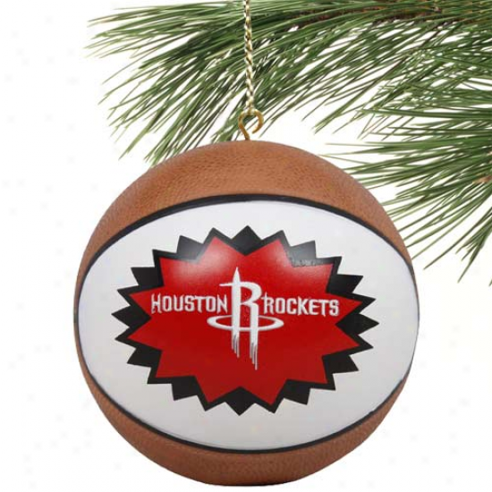 Houston Rockets Mini-replica Basketball Ornament