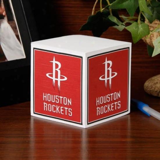 Houston Rockets Note Cube