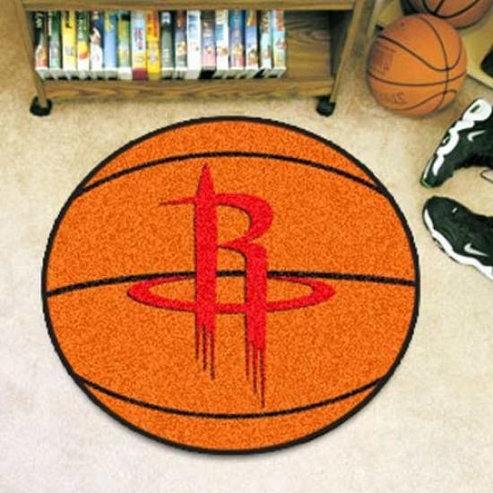 Houston Rockets Orwnge Round Basketball Mat