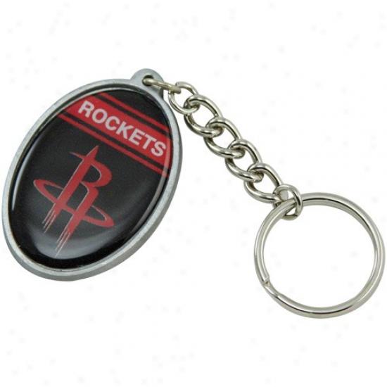 Houston Rockets Oval Keychain