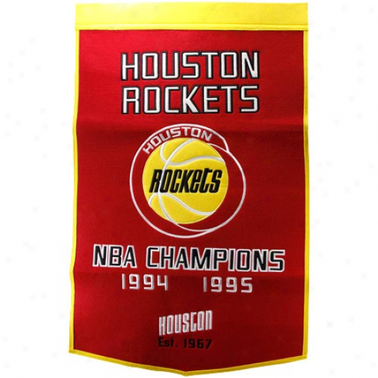 Houston Rockets Red-gold Dynasty Felt Banner