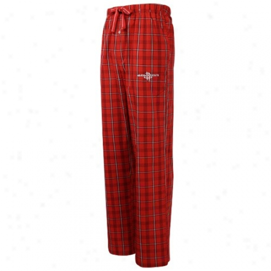 Houston Rockets Red Plaid Genuine Pajama Pants
