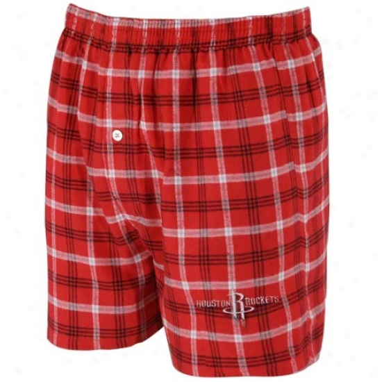 Houwton Rockets Red Plaid Tailgate Boxer Shorts