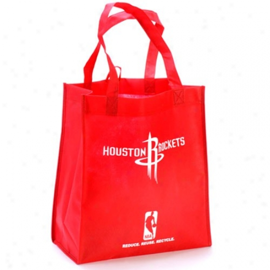 Houston Rockets Red Reusable Tote Bag