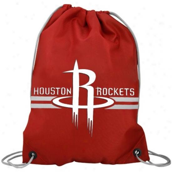 Houston Rockets Red Team Logo Ddawstring Backpack