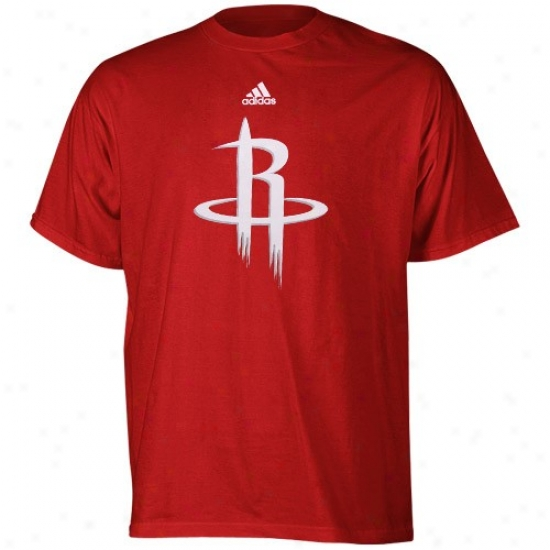Houston Rockets T Shirt : Adidas Houston Rockets Youth Red Primary Logo T Shirt