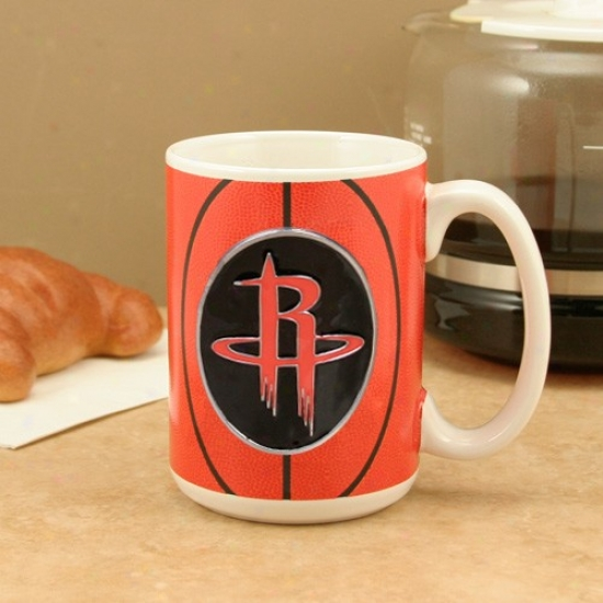 Houston Rockets White1 5oz. Game Ball Pewter Logo Mug