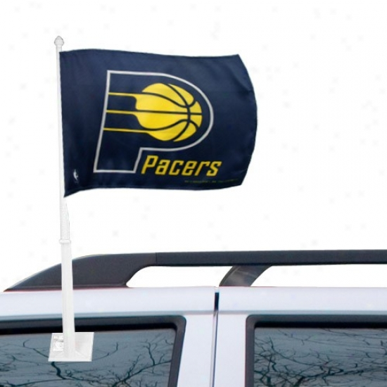 Indiana Pacer Flags : Indiana Pacer Navy Pedantic  Car Flags