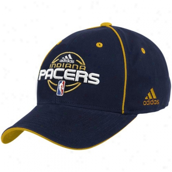 Indiana Pacer Gear: Adidas Indiana Pacer Navy Blue Team Colors Oficial Adjustable Hat