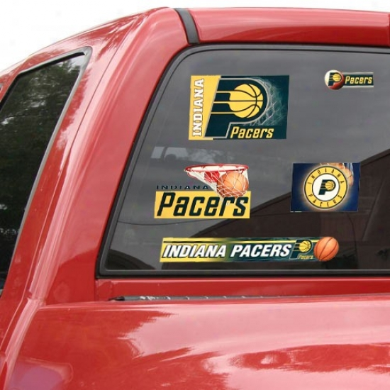 Indiana Pacers 11'' X 17'' Window Clings Sheet