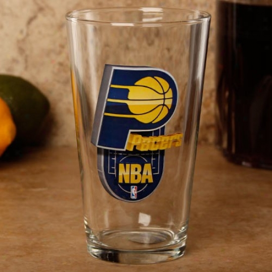 Indiana Pacers 17 Oz. Enhanced Hi-def Mixing Glass