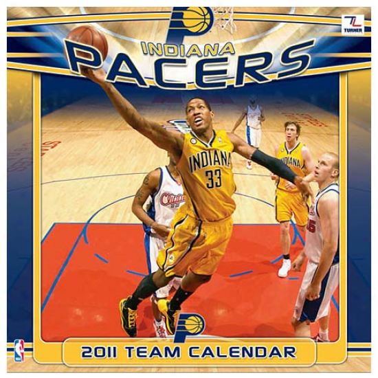 Indiana Pacers 2011 Wall Calendar