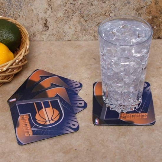Indiana Pacers 4-pack Sublimated Logo Neoprene Coaster Set