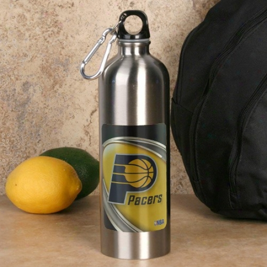 Indiana Pacers 750ml Stainless Steel Water Bottle W/ Carabiner Clip