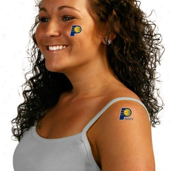 Indiana Pacers 8-pack Waterless Temporary Tattoos