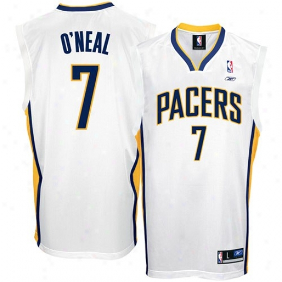 Indiana Pacers Jerseys : Reebok Indiana Pacers #7 Jermaine O'neal White Replica Basketball Jerseys