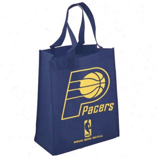 Indiana Pacers Navy Blue Reusable Tote Bag