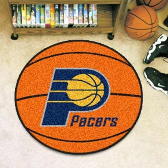 Indiana Pacers Orange Round Basketball Mat