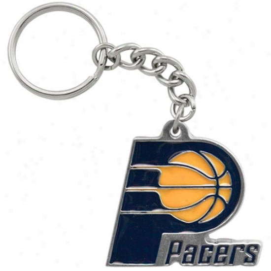 Indiana Pacers Pewter Primary Logo K3ychain