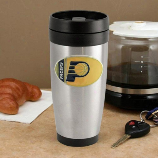 Indiana Pacers Stainless Steel Team Logo Travel Tumbler