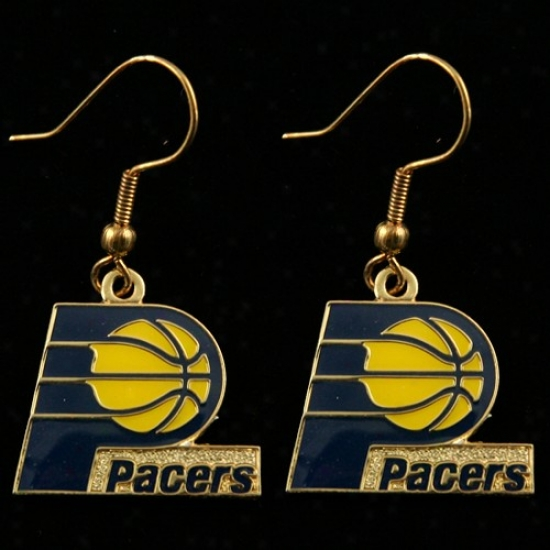 Indiana Pacers Team Logo Dangle Earrings