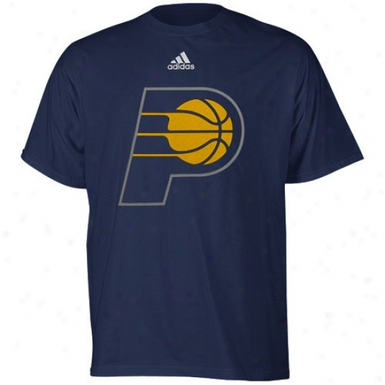 Indiana Pacers Tee : Adidas Indiana Pacers Youth Navy Blue Primary Logo Tee