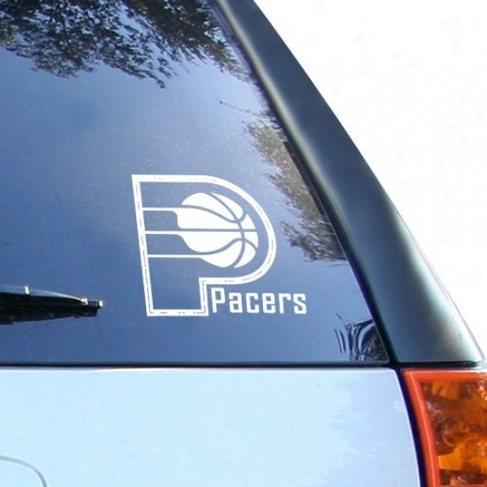 Indiana Pacers White 8'' X 8'' Logo Decal