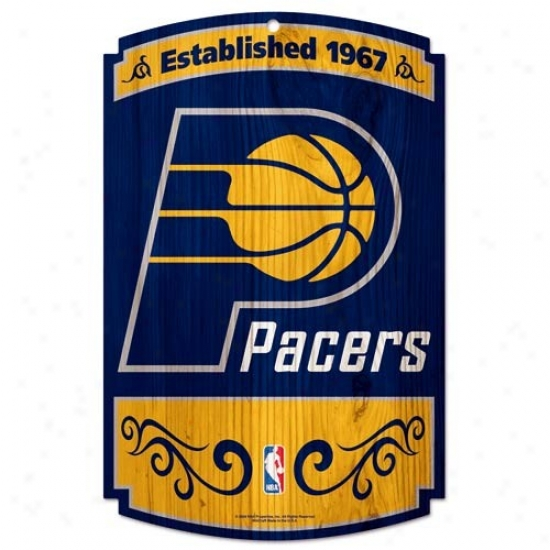 Indiana Pacers Wood Sign
