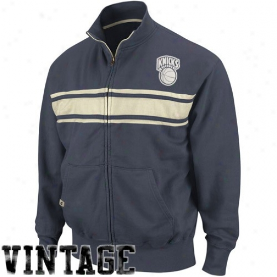 Knicks Jacket : Knjcks Navy Blue Race Legends Trail Jacket