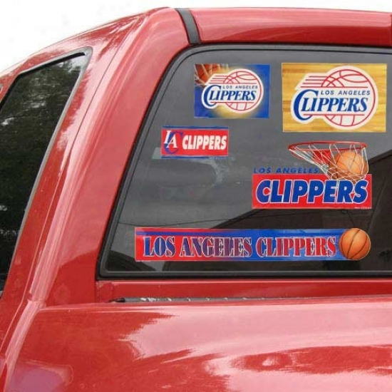 Los Angeles Clippers 11'' X 17'' Window Clings Sheet