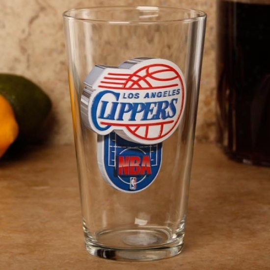 Los Angeles Clippers 17 Oz. Enhanced Hi-def Mixing Glass
