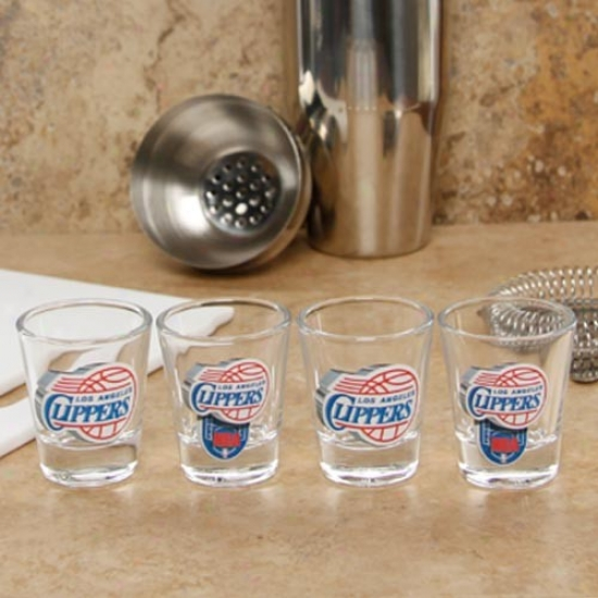 Los Angeles Clippers 4-pack Enhanced High Definition Desing Shot Glass Suit